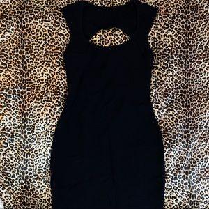 AMERICAN APPAREL 🖤 BLACK KEYHOLE MINI DRESS